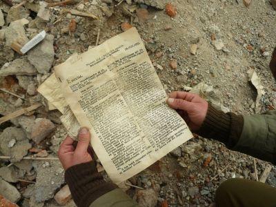 a opět nalézá! Historické dokumenty z roku 1933!