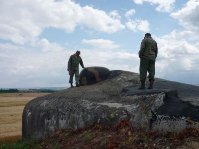 """Pěchotní srub OP-S 25 """"U Trigonometru"""" nedaleko Milostovic."""